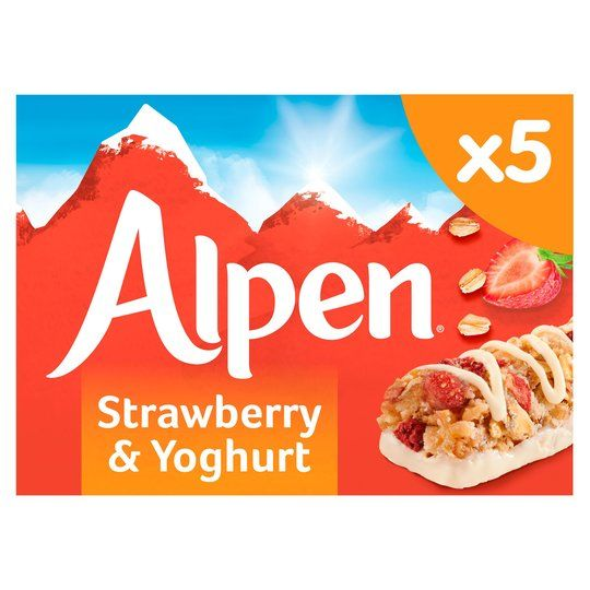 Alpen Strawberry & Yoghurt Bars 5x29g