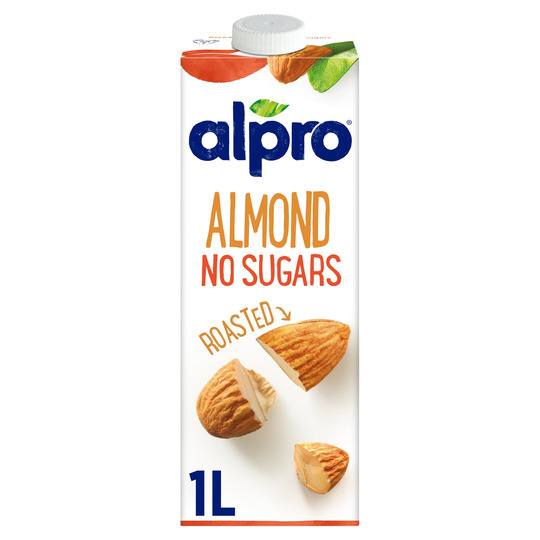 Alpro Unsweeted Almond Roasted Long Life Milk 1L