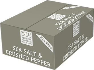 Burts Sea Salt & Crushed Pepper 20x40g