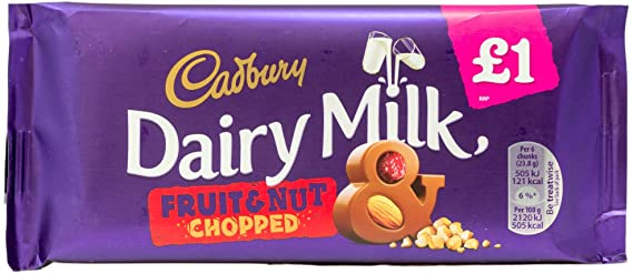 Cadbury Dairy Milk Fruit & Nut Chopped