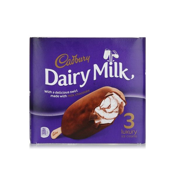 Cadbury Dairy Milk Swirl Ice Cream 3pk