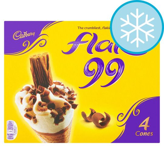 Cadbury Flake Ice Cream Cone 4pk