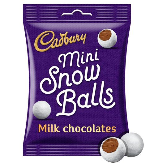 Cadbury Mini Snowballs 80g