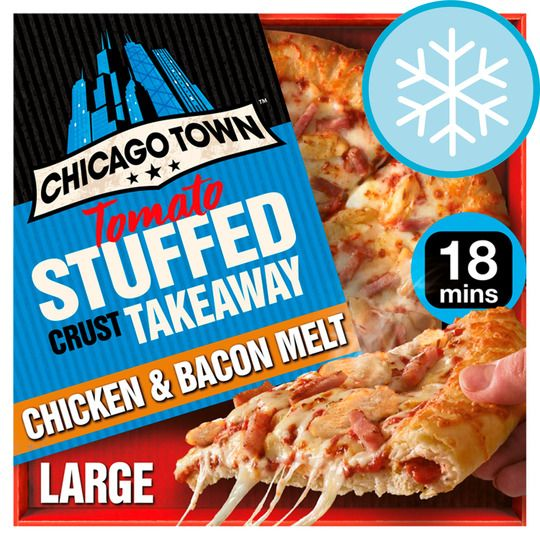 Chicago Town Stuffed Crust Large Chicken & Bacon 640g