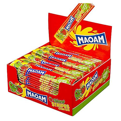 Haribo Giant Maoam Stripes Strawberry 60x15g