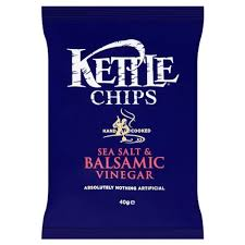 Kettle Chips Sea Salt & Balsamic Vinegar Case
