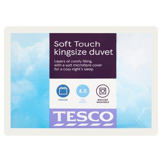 Tesco 4.5 Tog Soft Touch Duvet King
