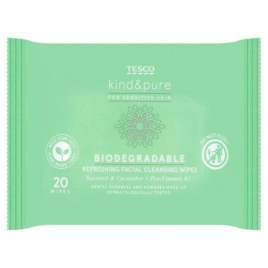 Tesco Kind & Pure Facial Wipes (20)
