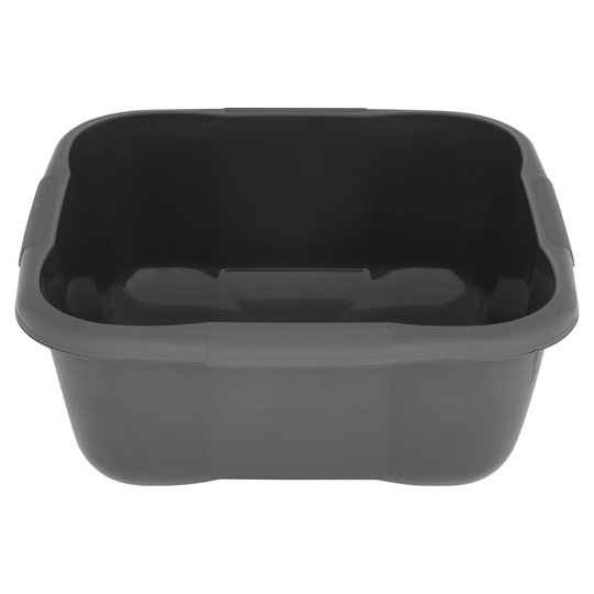 Tesco Recycled Square Washing up Bowl Dark Grey