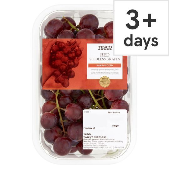 Tesco Red Seedless Grapes 500g