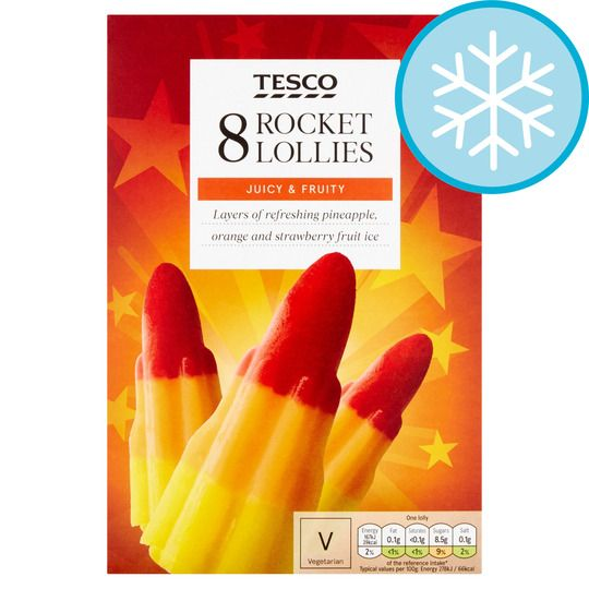 Tesco Rocket Lollies 8 Pack