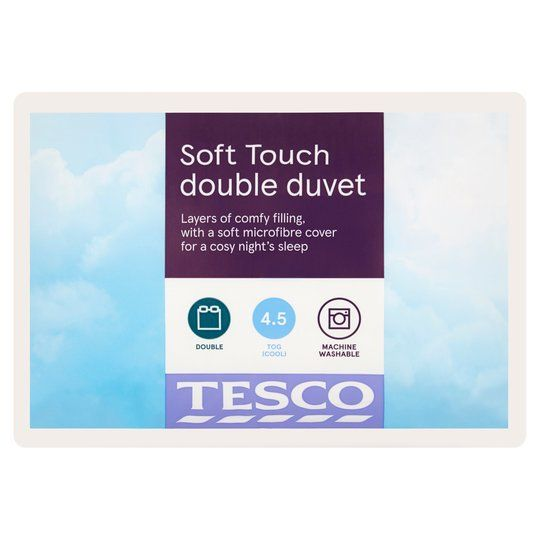 Tesco Soft Touch 4.5 Tog Duvet Double