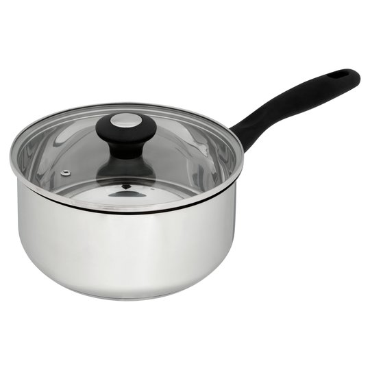 Tesco Stainless Steel Stock Saucepan 20cm