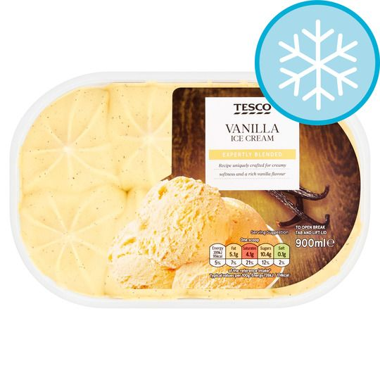 Tesco Vanilla Ice Cream 900ml